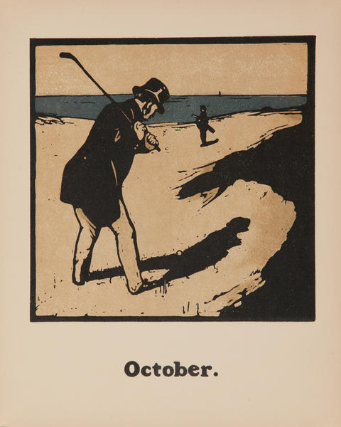 October Golf -  Original Sports Print