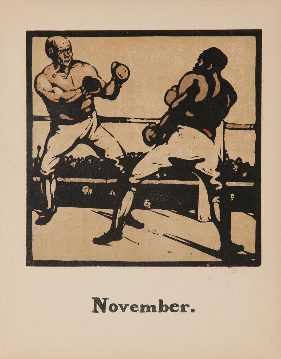 November Boxing -  Original Sports Print
