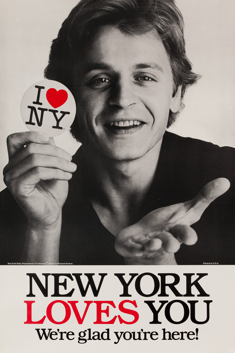 I Love NY Original New York Travel Poster, Mikhail Baryshnikov