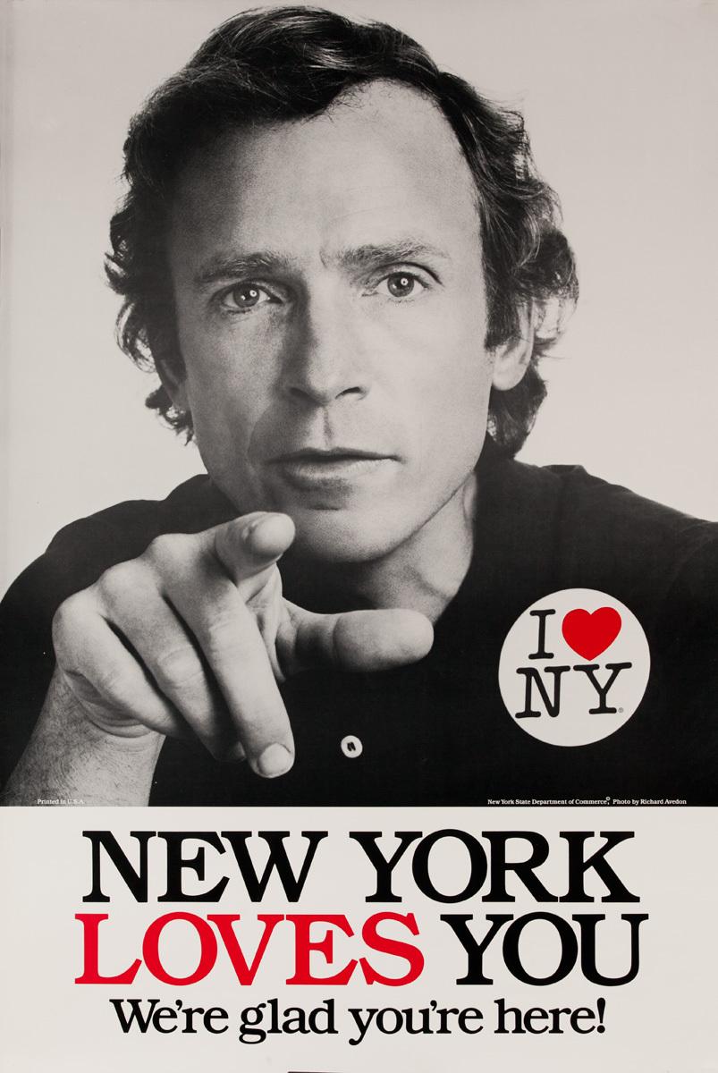 I Love NY Original New York Travel Poster, Dick Cavett