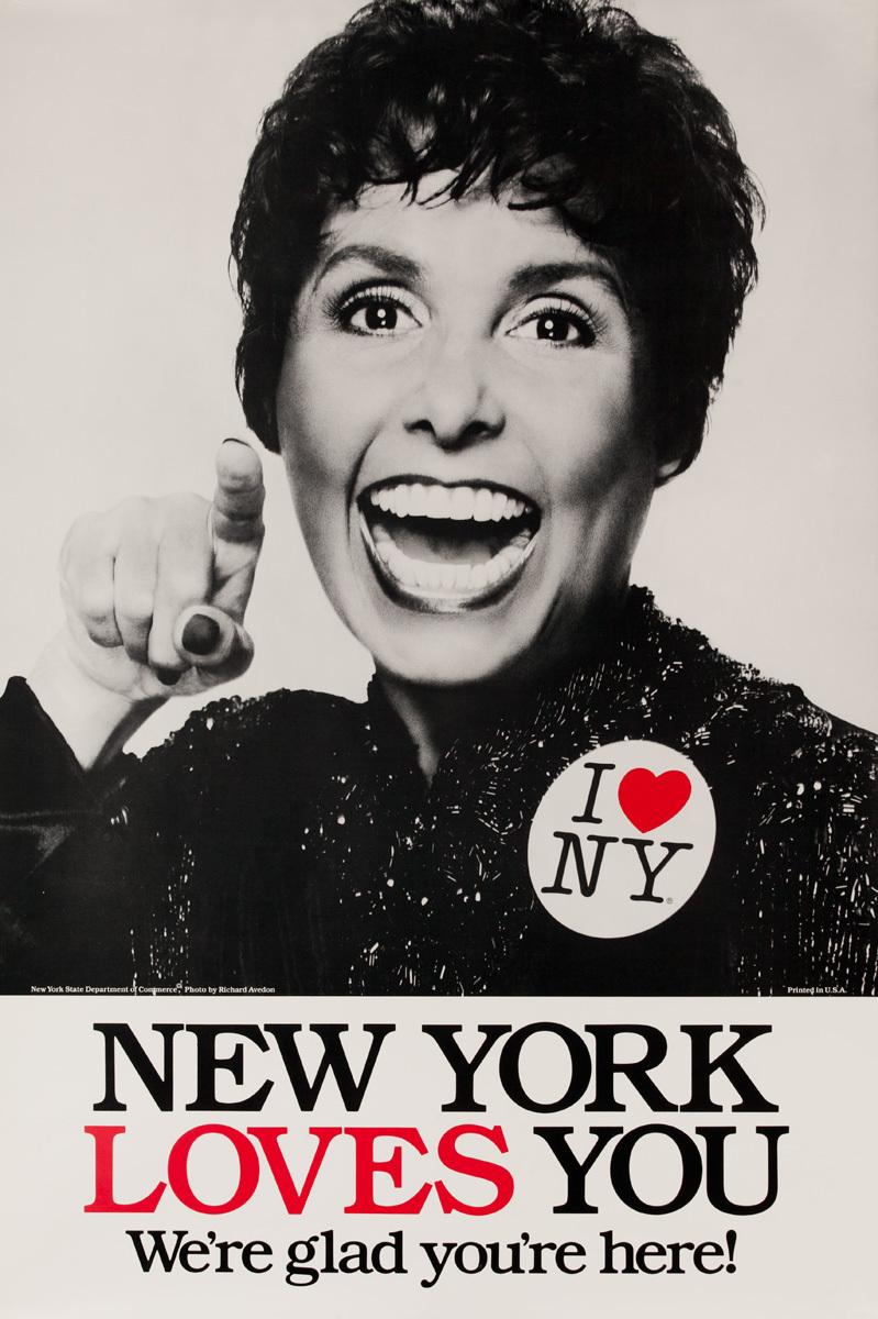 I Love NY Original New York Travel Poster, Lena Horne