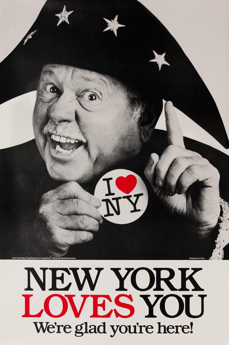 I Love NY Original New York Travel Poster, Mickey Rooney