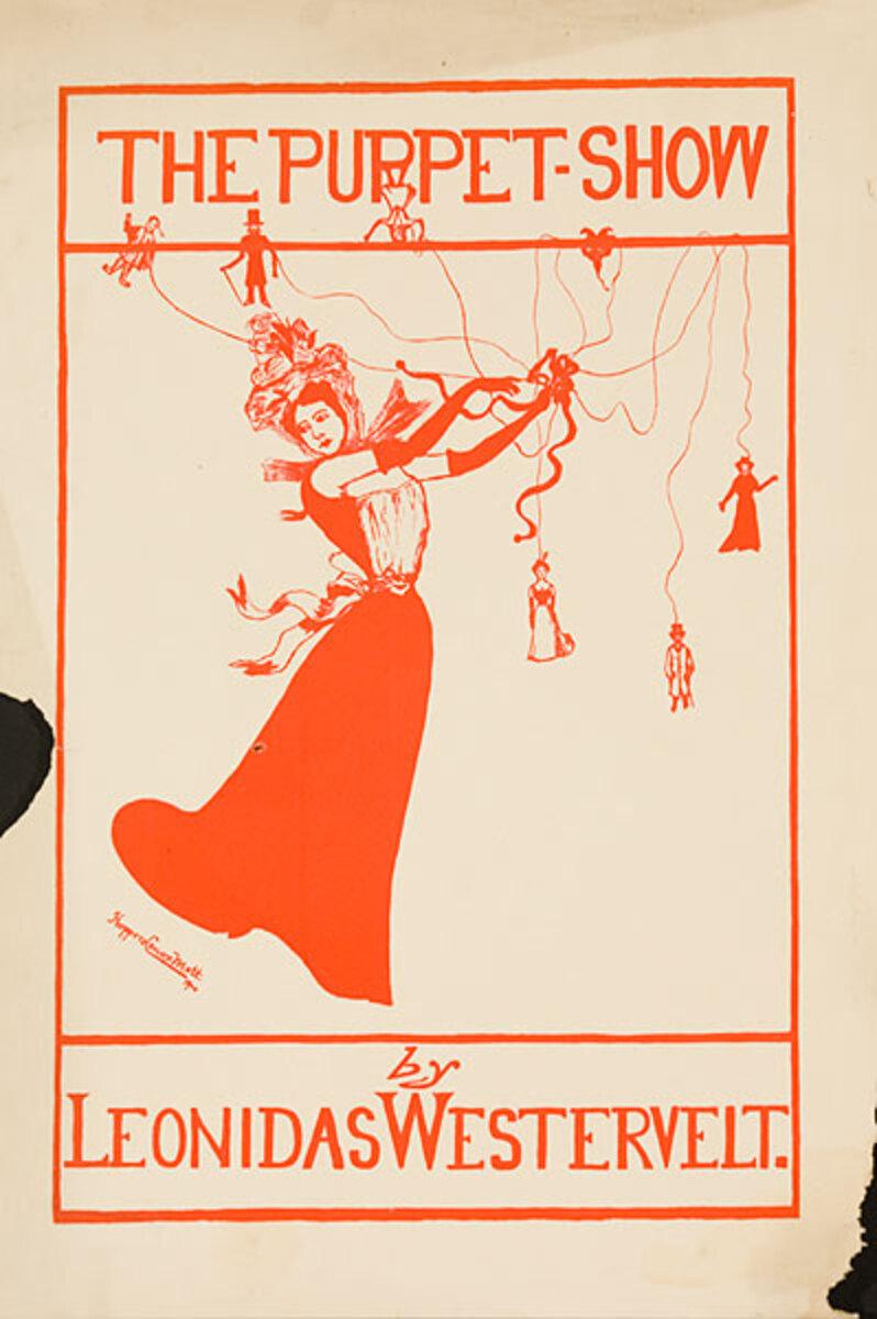 The Puppet by Leonidas Westervelt Show Original American Literary Poster
