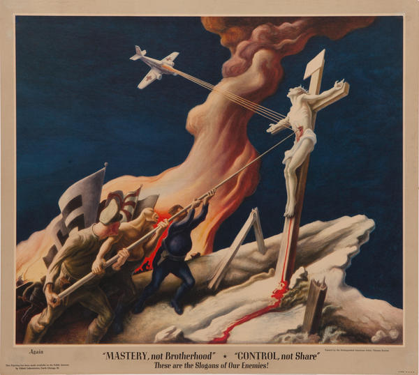 Again, Mastery, Not Brotherhood Original American World War Two Poster