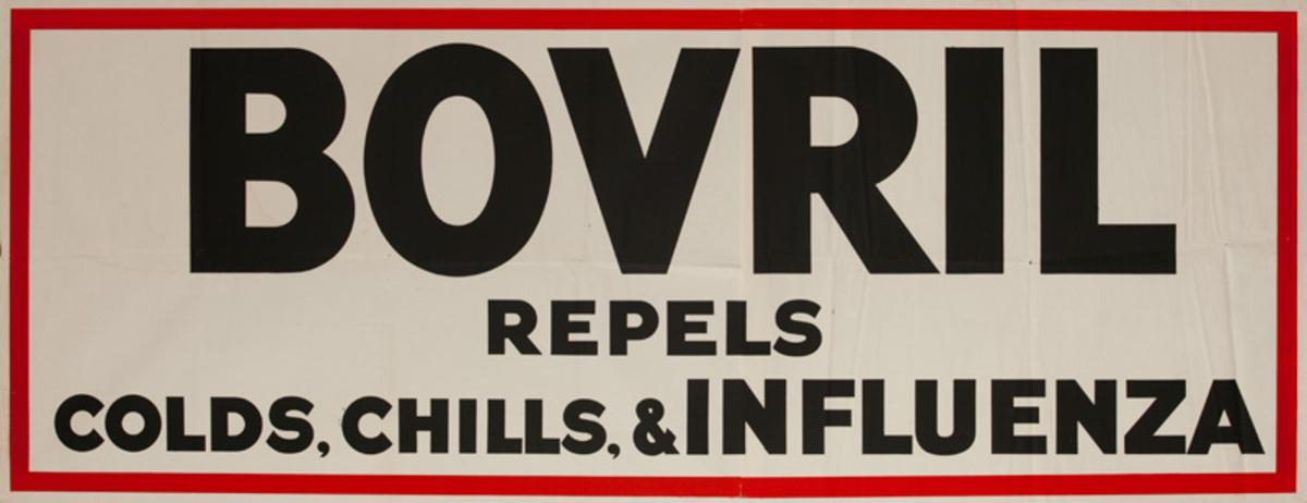 Bovril Repels Colds, Chills , & INFLUENZA Original British Advertising Poster