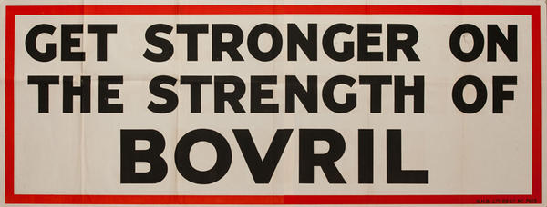 Get Stronger on the Strength of Bovril,  Original British Advertising Poster