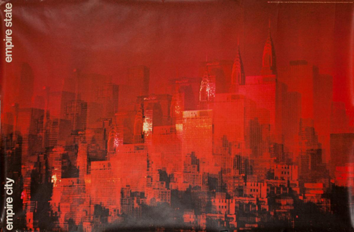 Container Corporation of America Original Public Relations Poster Empire City Empire State