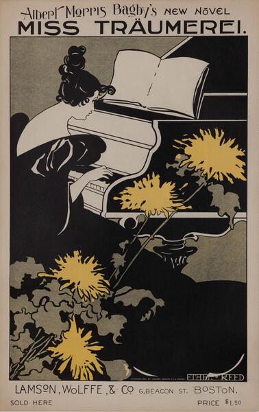 Albert Morris Bagby's New Novel Miss Traumerel Original American Literary Poster