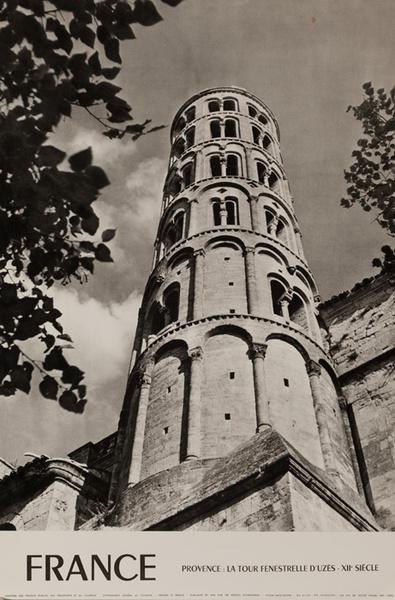 France, Provence, La Tout Fenestrelle D'Uzes, Original French Travel Poster