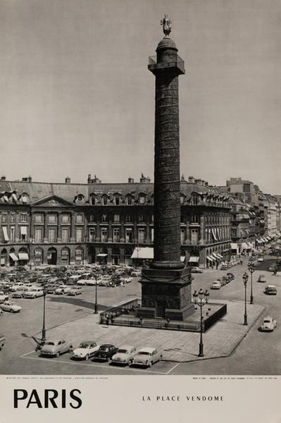 Francem La Place Vendome, Original French Travel Poster