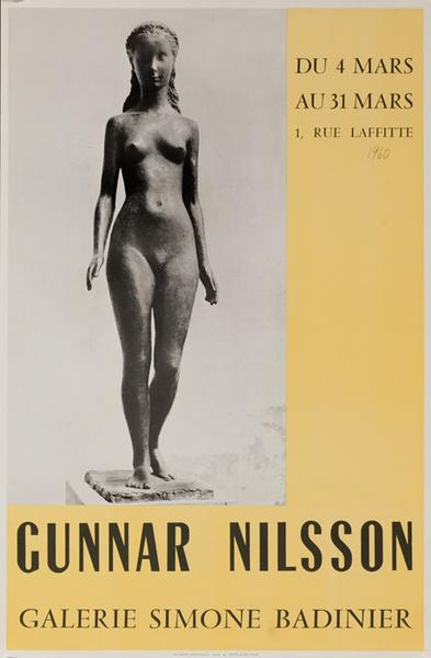 Gunnar Nilsson Galerie Simone Badinier, Original French Art Galley Poster