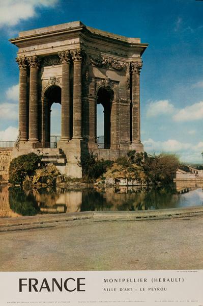 France, Montpellier, Ville d'Art, Original French Travel Poster