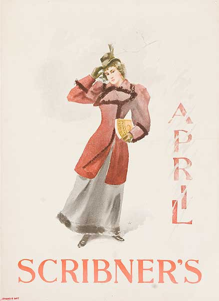 Scribner's April Original American Literary Poster Francis Day