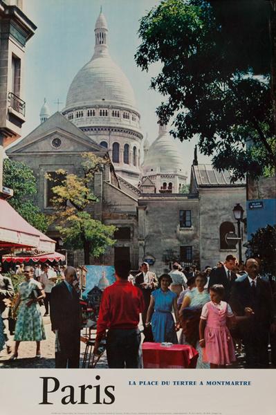 Paris, Momtmarte, Original French Travel Poster