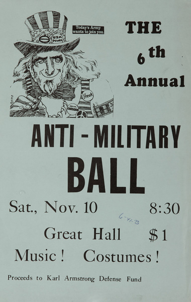 The 6th Annual Anti-Military Ball Vietnam War Protest Poster