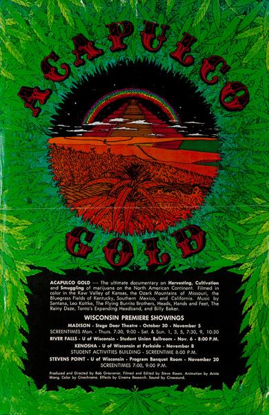 Acapulco Gold Original American Marijuana Documentary Poster