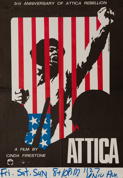 Attica, A film by Cinda Firestone, Original American Protest Poster