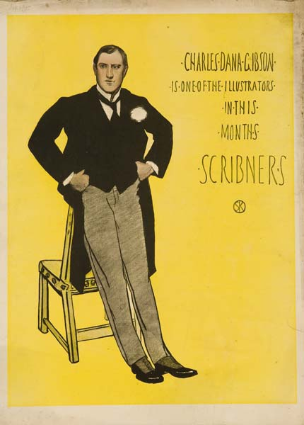 Charles Dana Gibson In this Months Scribner's Original American Literary Poster