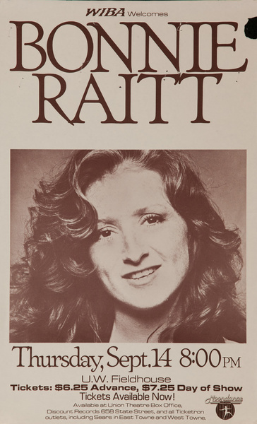 Bonnie Raitt Original American Concert Poster