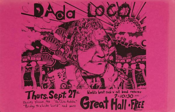 Dada Loco World's Best Rock 'n Roll band Original American Poster