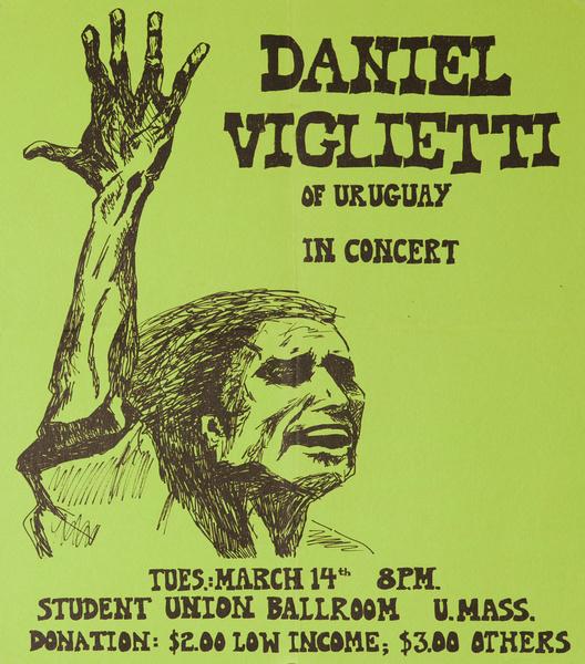 Daniel Viglietti of Uruguay in Concert Original America Poster