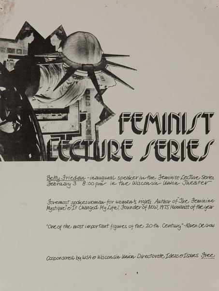 Feminist Lecture Series Original American College Poster