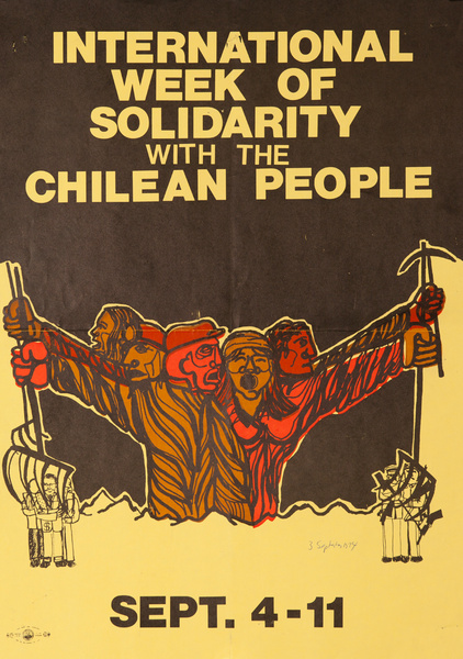 International week of Solidarity with the Chilean People, Original American Protest Poster