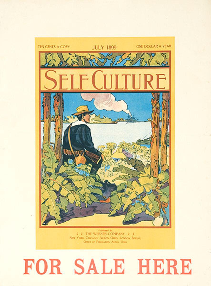 Self Culture July 1899 Original American Literary Poster