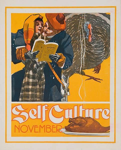 Self Culture November Original American Literary Poster
