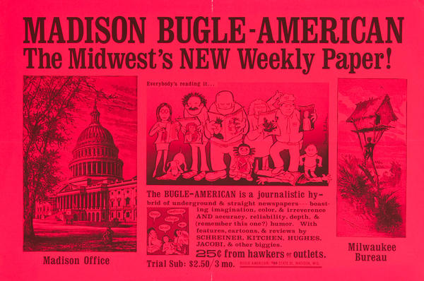 Madison Bugle American Original Newspaper Advertising Poster