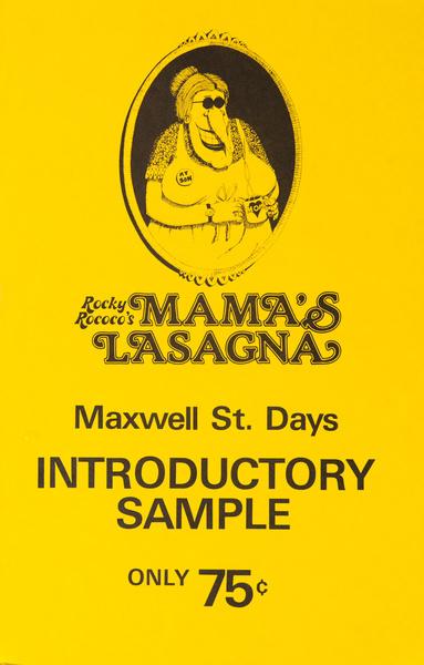 Mama's Lasagna Original College Campus Poster