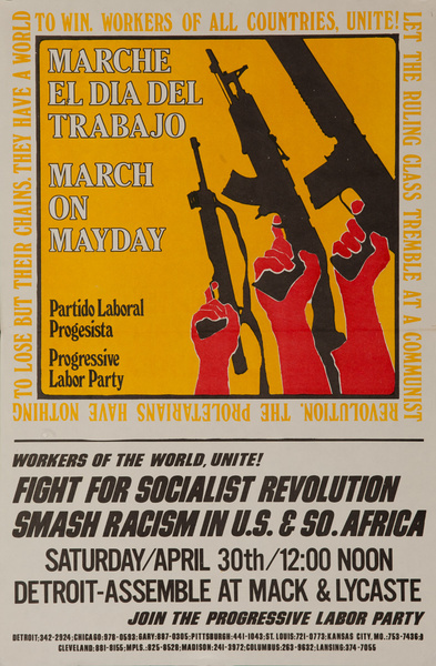 March On Mayday, MArche El Dia Del Trabajo Original American College Protest Poster