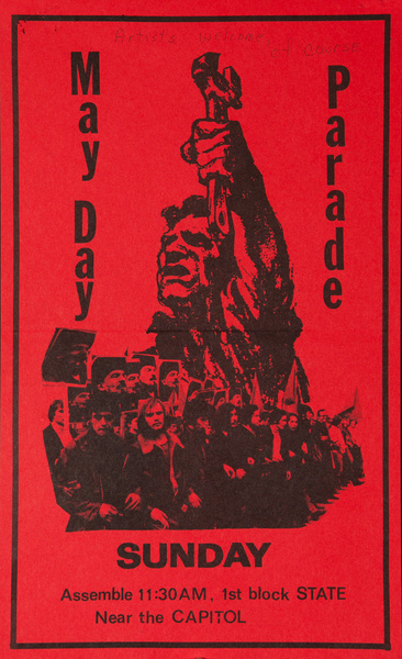 May Day Parade, Original American Protest Poster