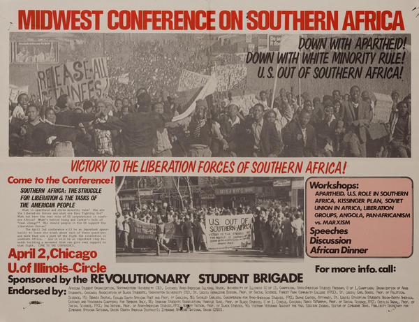 Midwest Conference on Southern Africa, Down With Aparthied, Original American Protest Poster