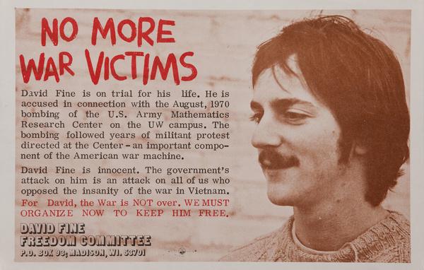 No More War Victims, Original American anti-Vietman War Protest Poster