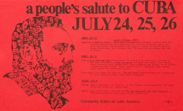 A People's Salute to Cuba,  Original American College Campus Protest Poster