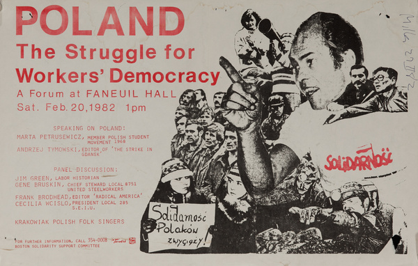 Poland, The Struggle for Workers' Democracy, Original American College Campus Protest Poster