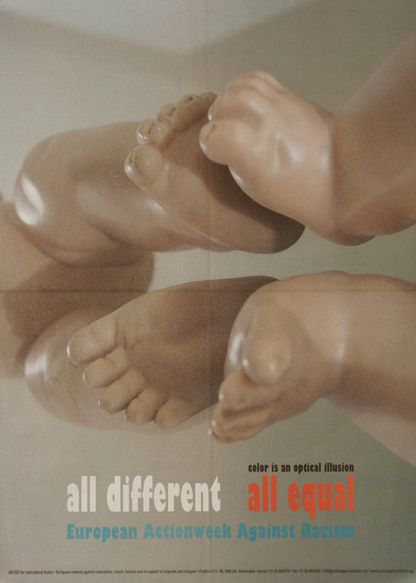 All Different, All Equal, Original European-Wide Action Week Against Racism Poster