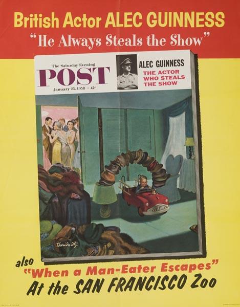 Saturday Evening Poster Original Advertising Poster January 25, 1958