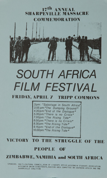 South African Film Festival, Original American College Campus Protest Poster