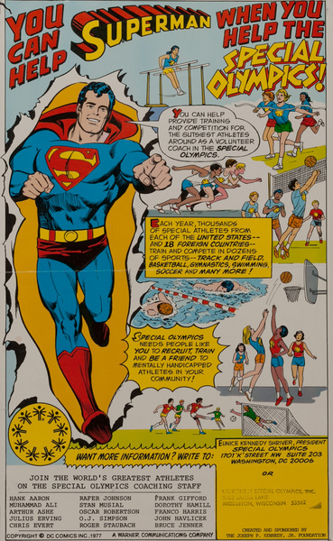 You Can Help Superman When You Help the Special Olympics! Poster