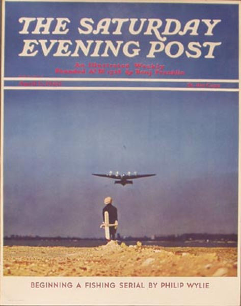 Saturday Evening Post April 4, 1940 Vintage Magazine Poster Boy With Airplane