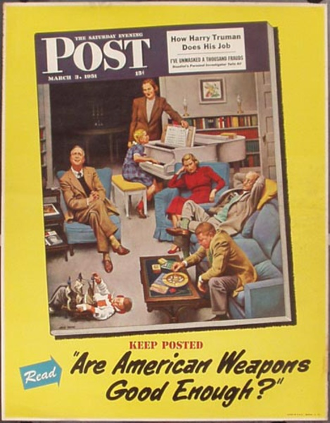Saturday Evening Post March 3, 1951 Vintage Magazine Poster