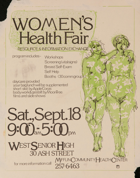 Women's Health Fair Original College Health Center Poster