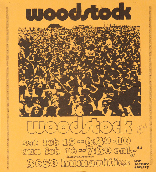 Woodstock, Original College Campus Movie Poster