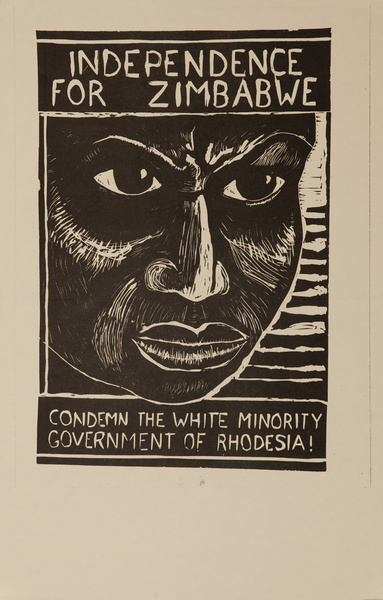 Indepenence for Zimbabwe, Condemn the White Minority Government Of Rhodesia, Original American Protest Poster