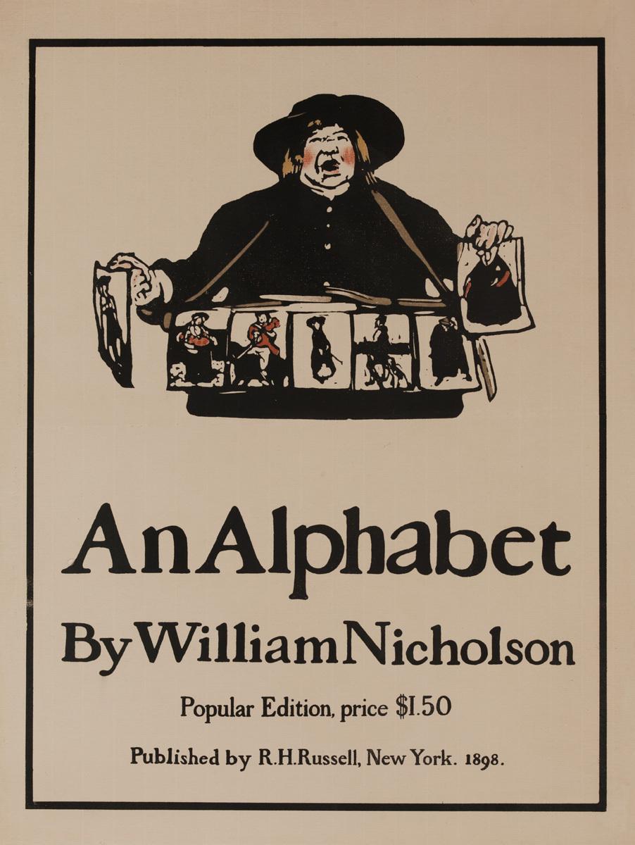 An Alphabet by William Nicholson, Original Amercian Advertising Poster
