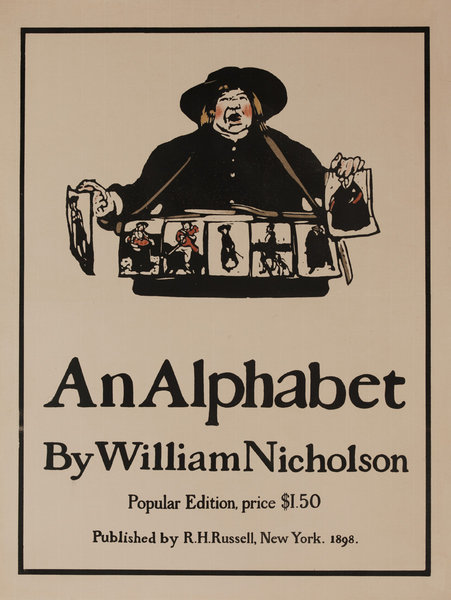 An Alphabet by William Nicholson, Original Amercian Advertising Poster