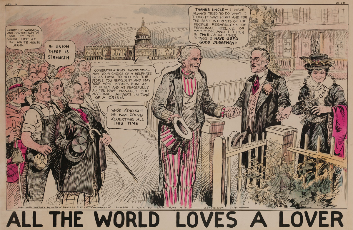 All The World Loves a Lover, Original American World War One Poster