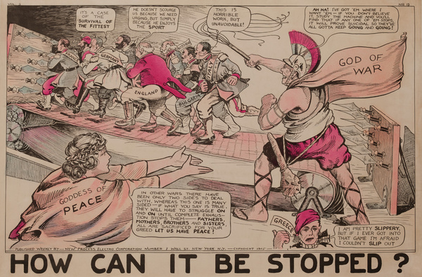 How Can it Be Stopped? Original American World War One Poster